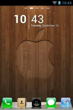"Free Android Theme ""iPhone 4s""  http://androidlooks.com/theme/t0388-iphone-4s/  ‪#‎wood‬, ‪#‎android‬, ‪#‎themes‬, ‪#‎customization‬"