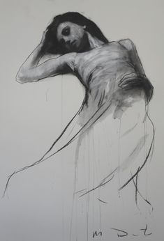 The Glass Child // Charlotte Eriksson - by Mark Demsteader Life Drawing, Drawing Sketches, Art Drawings, Figure Drawings, Figure Painting, Painting & Drawing, Mark Demsteader, Portrait Art, Portraits