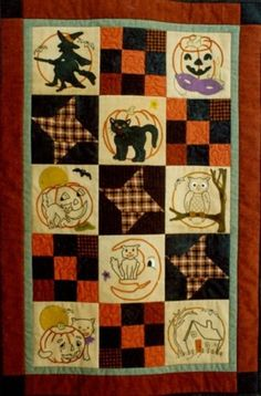 Ol' Halloween Stitch Quilt Pattern Set
