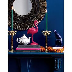A whimsical bit of fun from British fashion designer Matthew Williamson. Cheeky pink statue hides a secret compartment under all those feathers. We love it for rings, earrings or anything you want to chicly stash away. Black Candle Holders, Taper Candle Holders, Candle Holder Set, Votive Candles, Home Decoration Brands, Ikea, Eclectic Furniture, Black Candles, Matthew Williamson