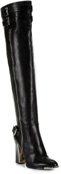 Jayla Leather Over the Knee Boots - Lyst