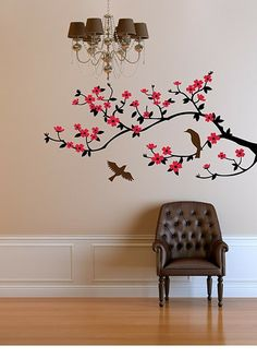 Cherry blossom branch Decal Modern Wall Decor by CherryWalls on Etsy