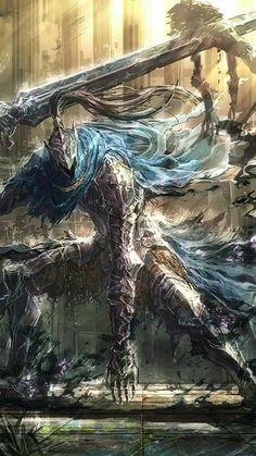 Artorias the Abysswalker - Boss Mode Fantasy Armor, Dark Fantasy Art, Dark Art, Dark Souls Artorias, Arte Dark Souls, Bloodborne Art, Epic Art, Soul Art, Fantasy Characters