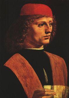 Portrait of a Musician by Leonardo da Vinci #art