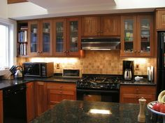 Kitchens With Cherry Cabinets Design Ideas, Pictures, Remodel, and Decor - page 2
