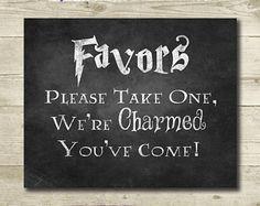Harry Potter Wedding // Wedding Favors Sign // Printable // 8x10 // Harry Potter Bridal Shower // Chalkboard Harry Potter Sign