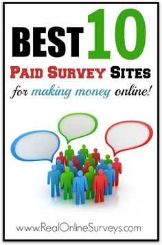 Looking for a legitimate survey site that actually pays?Check out the Best 10 Paid Survey Sites for Making Money Online #onlinesurveys #paidsurveys Making Money money making ideas