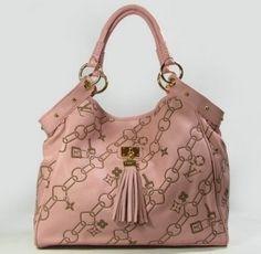 Louis Vuitton - Cowskin Leather Handbag Pink
