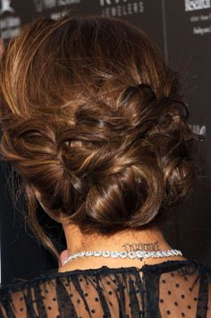 eva longoria messy up do back view | Think you could figure it out? I dare you to. And then let me know how ...