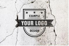 Logo on Old Dirty Wall Mockup Template | ShareTemplates