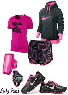 Women's fashion Nike workout outfit