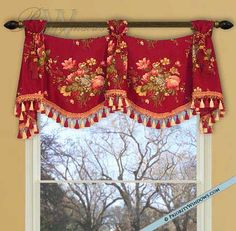 Custom Valances | Home | Custom Valances | Simple Trumpet and Jabot Valance