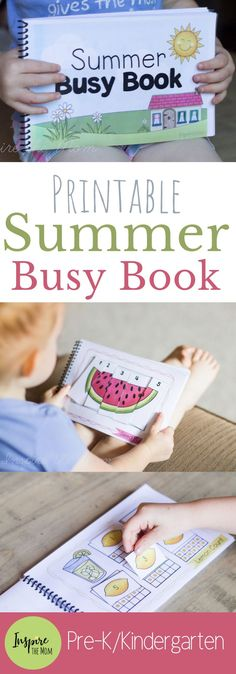 Printable Summer Busy Book Printable Summer Busy Book This Summer Busy Book Has Ten Different Interactive Activities That Teach Patterns Counting Numbers Spatial Reasoning And More Printable Summer Busy Book Inspire The Mom Kindergarten Books, Preschool Books, Preschool Learning Activities, Book Activities, Preschool Activities, Kids Learning, Interactive Activities, Kindergarten Shapes, Activity Books For Toddlers