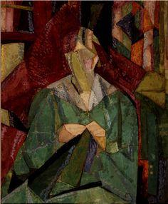 "Vanessa Bell. ""Portrait of Molly MacCarthy"", 1914–15. Private Collection. © Estate of Vanessa Bell, courtesy Henrietta Garnett."