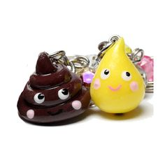 and this @Sandra Pendle Pendle Pendle Micou     Poop and Pee Best Friend Keychains  2 BFF set  by BitOfSugar, $20.00