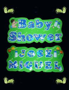 Cartel de bebe-letras- Nacimiento - baby shower- foami. bebe-accesorios-decoración Elaborado Por Isamar Belisario