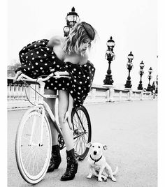 Ellen Von Unwerth, Celine, Cycle Chic, Life Is Beautiful, Photos, Instagram, Bicycle, Black And White, Pretty