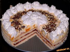 TRASENÁ MANDARINKOVÁ TORTA High Sugar, Homemade Cakes, Gluten, Pie, Sweets, Cookies, Baking, Food, Pies