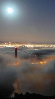 Fog, Golden Gate Bridge, San Francisco, California, United States SEEN:) Places Around The World, Oh The Places You'll Go, Places To Travel, Places To Visit, Around The Worlds, Beautiful World, Beautiful Places, Beautiful Pictures, Puente Golden Gate
