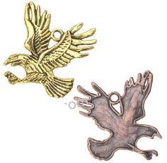 Zinc Alloy Animal Pendants,Eagle,Plated,Cadmium And Lead Free,Various Color For Choice,Approx 37*33.5*2mm,Hole:Approx 2.5mm,Sold By Bags,No002903