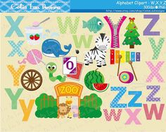 Alphabet clipart, ABC Digital Clip Art set includes 30 cute graphics. Graphics are PERFECT for the Scrapbooking, Cards Design, Stickers, Paper Crafts, Web Design, T-shirt Design...More and more! Whatever your want! For more Alphabet :