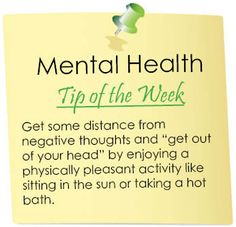 Mental Health Tip of the Week -Great tip! / peace of mine quotes