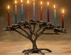 Tree of Life Menorah. Beautiful