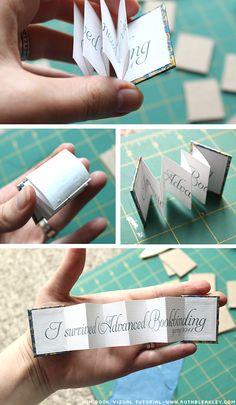 "Bookbinding Etsy Street Team: Mini Book Photo Tutorial - ""Thank you"" wedding favor"