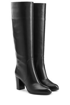 SERGIO ROSSI - Leather Knee Boots| STYLEBOP.com