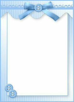 frame with blue bow and buttons, for my crafting workshop poster Baby Boy Scrapbook, Scrapbook Bebe, Scrapbook Paper, Clipart Baby, Frame Clipart, Deco Baby Shower, Baby Boy Shower, Borders For Paper, Borders And Frames