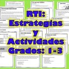 RTI: INTERVENCIONES EN ESPANOL The student will improve his fluency, listening  comprehension and Reading comprehension skills.  This document includes only interventions in Span...