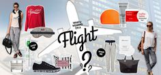Outfit ideas and inspiration on what to wear on a long haul flight.