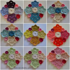 The blog Suz Place shares her creative color matching process before making the 'Star and Puff Granny Square...