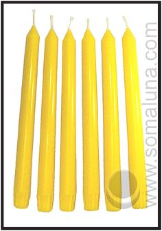 Summer Yellow Taper Candles