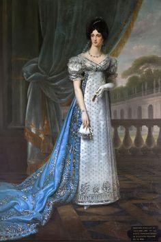 Portrait of the Duchess Talleyrand-Périgord, Princess Dorothea by Joseph Chabord