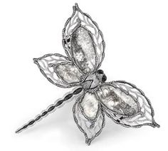 """ragonfly brooch with 28 carats of sliced rose cut diamonds from the """"Art du Jour"""" collection by Samir Bhansali for La Reina"""
