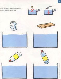 Afbeeldingsresultaat voor drijven en zinken werkblad