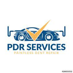 Paintless Dent Repair logo, PDR service logo, automotive company - Buy this stock vector and explore similar vectors at Adobe Stock Service Logo, Stock Photos, Logos, Car, Automobile, Cars, Logo, Autos