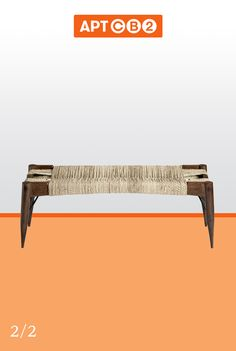This woven bench would add fantastic texture to our room. Like your favorite out of 2 to see it in #APTCB2 at www.cb2.com/APTCB2 #workswithCB2