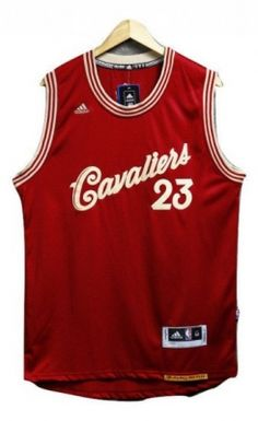 e20930e3bea1  23 Adidas Throwback LeBron James Men s Red NBA Jersey - Cleveland Cavaliers  2016 Christmas New