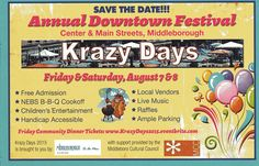 Krazy Days Free Admission, My Town, B & B, Live Music, New England, Entertaining, Feelings, Funny