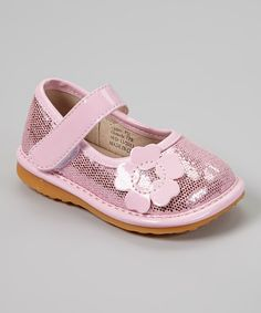 Light pink. Flower. Girl shoes