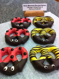 Lady Bug and Bee Twisty Pretzels. These are so cute!