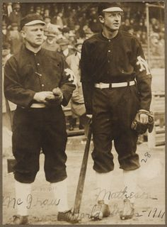 John McGraw and Christy Mathewson - NY Giants - World Series (1911)