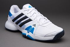 hot sales 83939 684ae adidas Barricade Team 3 - Mens Tennis Shoes - Running White-Night Shade-Solar  Blue