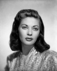 Yvonne De Carlo Better known as Lilly Munster Beautifu WOW!!! She is beautiful !!! I've NEVER seen a regular pic of her outside of lillymunster!!