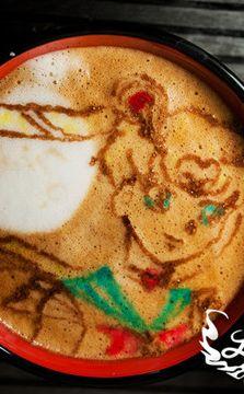 Sailor-moon Latte Art