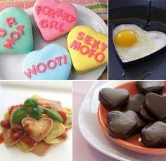 Heart shape food.