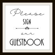 Please Sign Our Guest Book Wedding Digital Print 8 by CRAFTFREAK4U