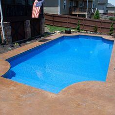 16 x 32 Roman End Swimming Pool Kit - Pool Warehouse Backyard Pool Landscaping, Backyard Pool Designs, Small Backyard Pools, Backyard Ideas, Small Pools, Pool Decks, Swimming Pool Kits, Swimming Pool Designs, Cheap Inground Pool